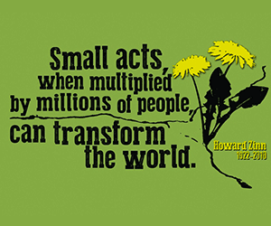 Small acts of kindness can change the world
