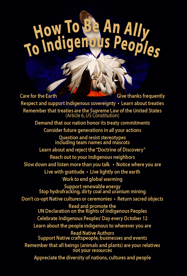 Postcard How To Build Global Community: How To Be An Ally To Indigenous Peoples