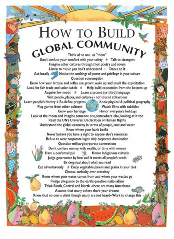 Gallery For How To Build Global Community Poster
