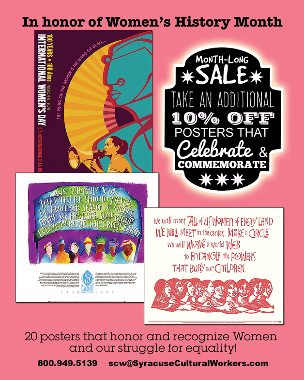 Month-Long Sale, 10% Off Women's History Posters