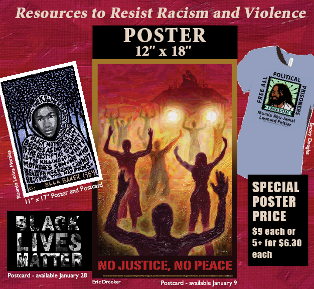 Resist Racism - New Poster No Justice No Peace