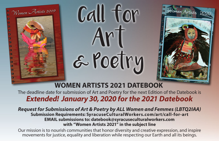 Call for Art & Poetry deadline extended to January 30