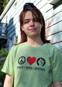 Peace + Love = Justice T-shirt-Jess