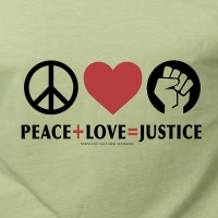 Peace + Love = Justice T-shirt
