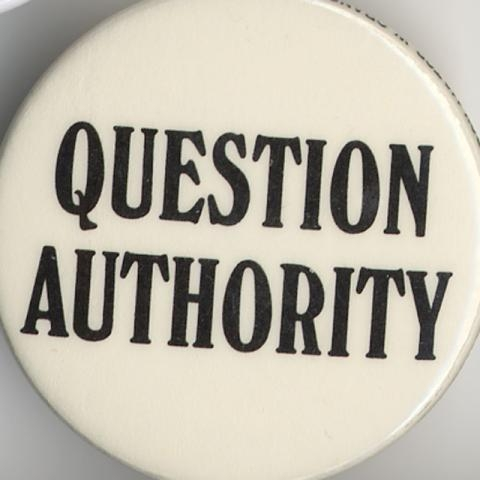 Button question authority