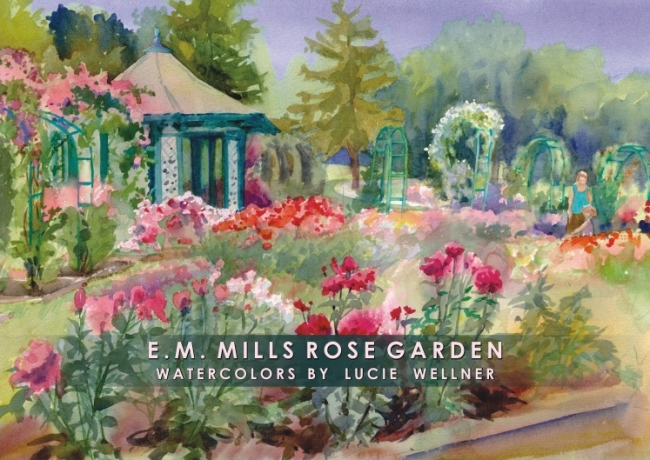 Gift Folio   Rose Garden By Lucie Wellner   Package Of Six