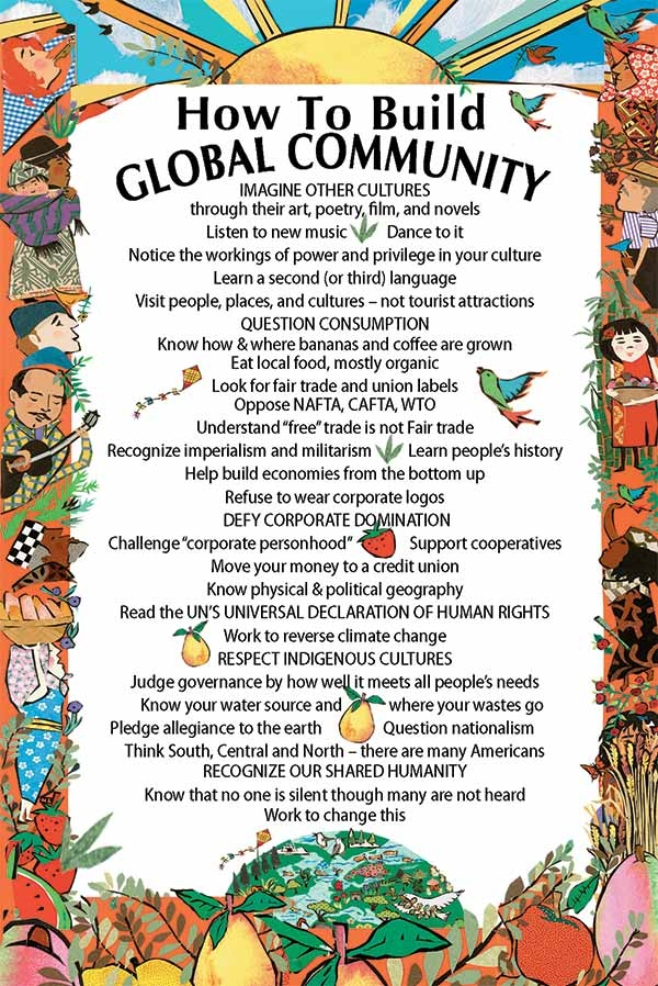 Postcard How To Build Global Community