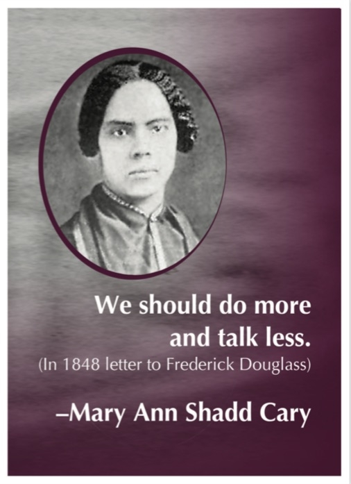 Notecard Mary Ann Shadd Cary Syracuse Cultural Workers