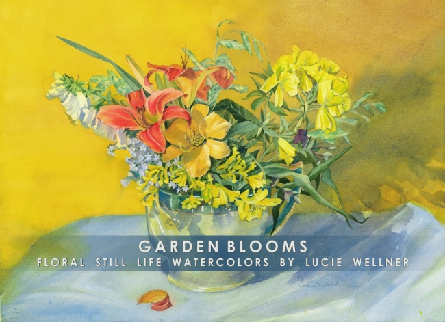Gift Folio   Garden Blooms By Lucie Wellner   Package Of Six
