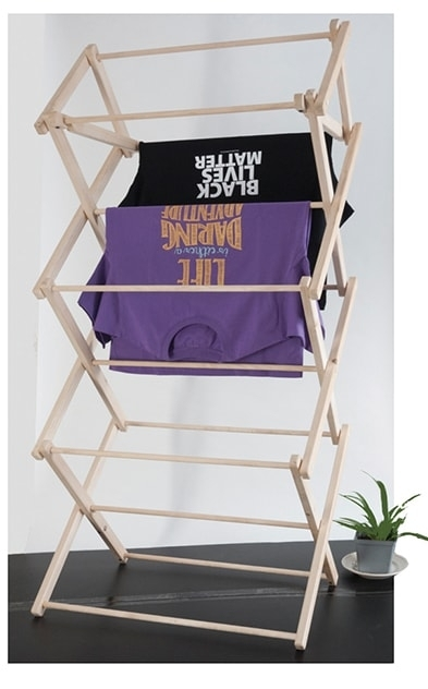 Misc Wooden Clothes Drying Rack Large Syracuse Cultural Workers