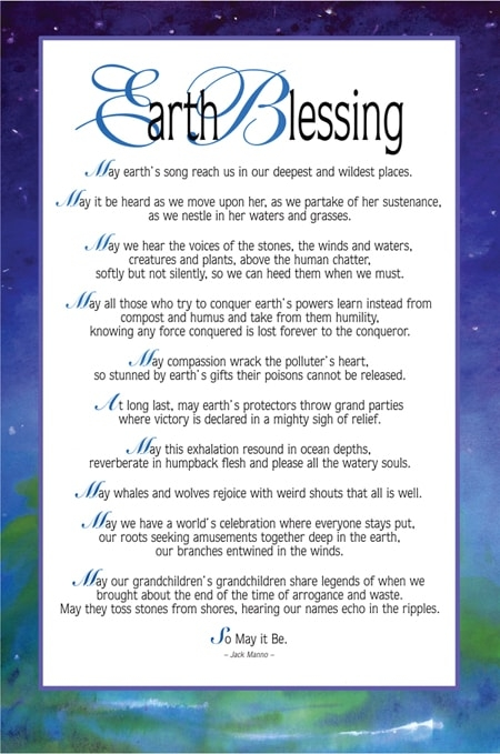 Earth Blessing poster