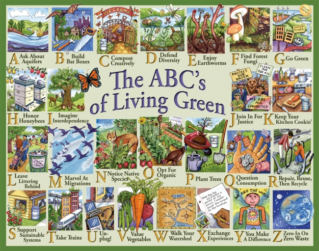 Placemat The Abc S Of Living Green Syracuse Cultural