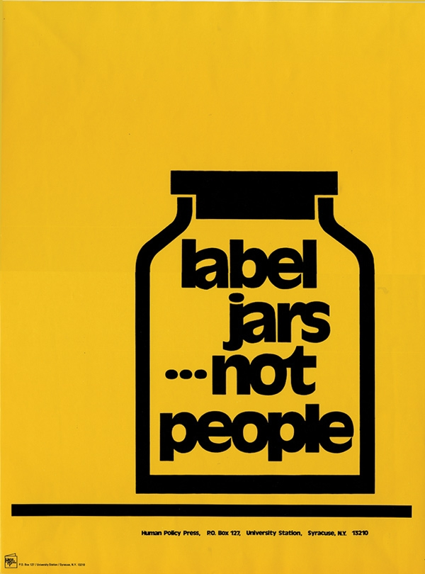 poster label jars not people syracuse cultural workers