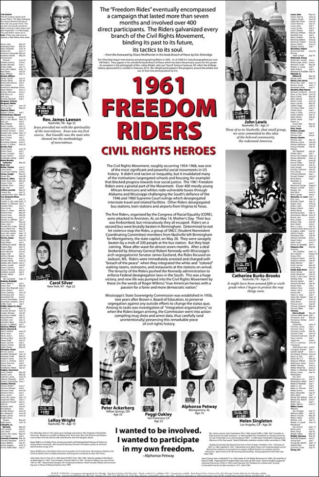Poster - 1961 Freedom Riders | Syracuse Cultural Workers