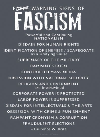 Early Signs Of Fascism >> T Shirt Stop Fascism Early Warning Signs Of Fascism Syracuse